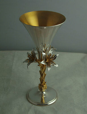 Hector Miller For Aurum Solid Silver Blackburn Cathedral Goblet - London 1976.