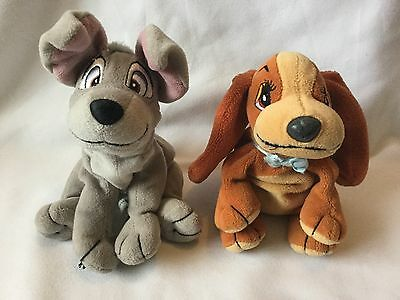 """Lady and the Tramp soft toys Plush Dogs Walt Disney Classic film toys 5""""-7"""" 💖"""