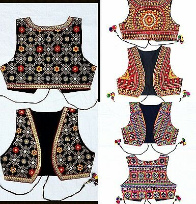 Womens Embroidered cropped Waistcoat Jacket Alternative Festival Hippy Boho