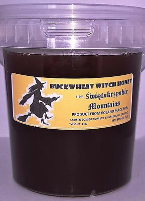"1 Kg Buckwheat ""witch"" Mountain Honey 100% Natural Raw Pure From Apiary 2017"
