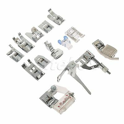 Durable Sewing Aid Foot Feet For Domestic Sewing Machine Janome Singer 15Pcs