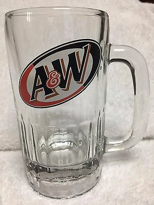 Vintage A&W Root Beer Glass Mugs