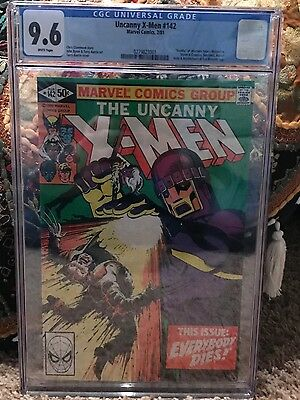 X-Men #142 CGC 9.6 1981 Death of Wolverine! White Pages! NM+