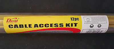 Electricians 13 Piece Fibreglass Cable Access Kit - Fish Rods - Cable Pullers