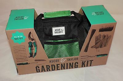 NEW Ascot & Taylor GARDENING GIFT SET - ALL IN ONE KIT w/Attractive Carry Bag