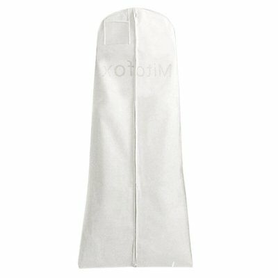 "Mitofox 72"" Breathable White Wedding Dress Gown Garment Bag White"