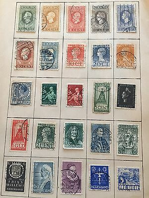 1 Page Beautiful Vintage Stamps Netherland Nederland Postage! Mixed Lot! Europe