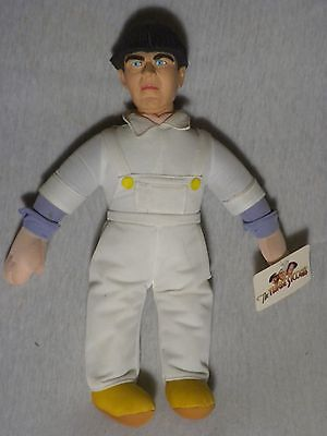 "Three Stooges Doll Moe Soft Plush 15"" Play By Play 1999!"