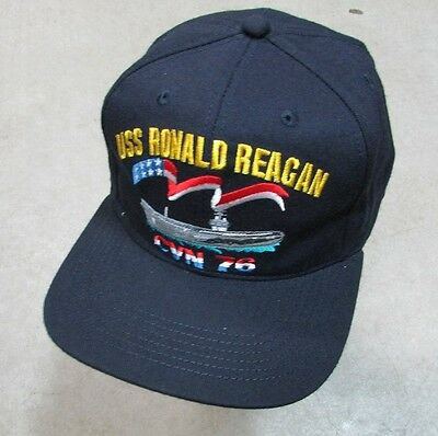 CVN-76 USS RONALD REAGAN OFFICIAL HAT US Navy Ship Squadron With Patch Image