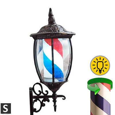 Lantern Classic Barber Pole - barber shop sign with built-in light & revolving
