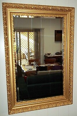 Large Victorian Bevilled Mirror , pick up in Geelong