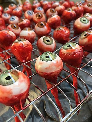 Lot of 13 Bloody Ripped Out Eye Haunted House Prop Decoration BUTCHERS DOZEN