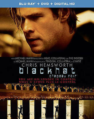 Blackhat (Blu-ray + DVD + Digital HD, 2015, 2-Disc Set)  NEW SEALED w/ Slipcover