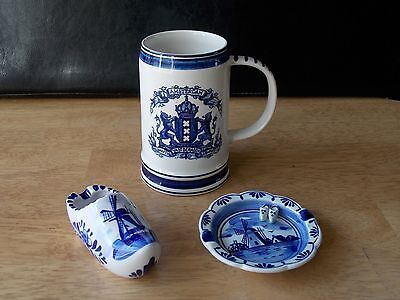 Delfts Blue Amsterdam Hand painted made in Holland marked Delfino Bundle