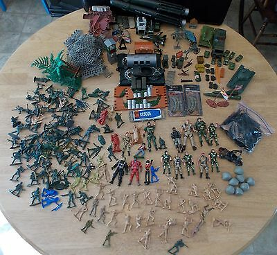 Toy Soldier Lot of Army Figures, Vehicles & Accessories