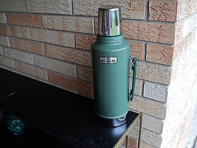 Vintage Alladin Stanley Green 100cup 2 Quart Unbreakable Steel THERMOS Near Mint
