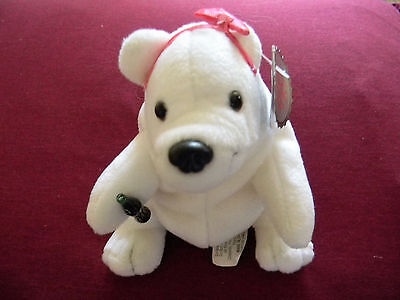 Collectible Coca Cola stuffed plush white bear