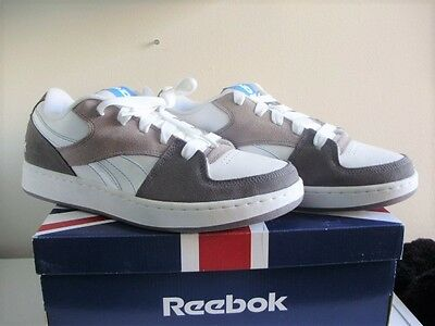 Brand New With Box Reebok Casual  White Grey Carbon Blue Size 11