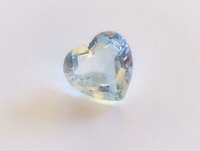 Heart Shape Natural Aquamarine 5Mm Faceted 1 Pc Loose Gemstone