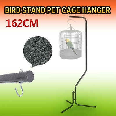 Bird Stand Pet Cage Hanger Parrot Aviary Iron Tube Frame Canary 162cm
