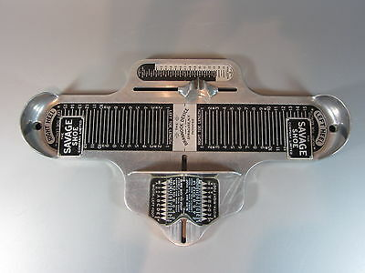 Vintage Lehigh Safety Shoe Brannock Device Men Syracuse NY Foot Measurement