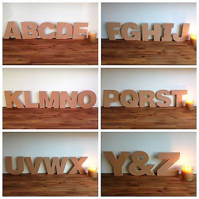Large Wooden Standing Letter~Raw Mdf~Diy Decorate Craft~Any Uppercase Letter A-Z