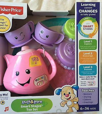 Fisher Price Laugh & Learn Smart Stages Tea Set ~ New In Box