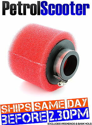 Pit Bike Pitbike Red Twin Foam Fast Flow AIR FILTER Quad ATV 34-36mm Dirtbike