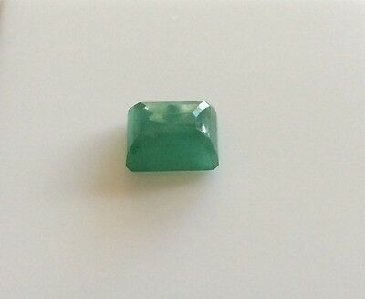 EMERALD SHAPE CUT NATURAL EMERALD  2.07CT 8MM x 6MM FACETED 1PC LOOSE GEMSTONE
