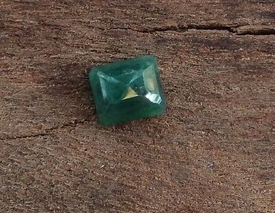 EMERALD SHAPE CUT NATURAL EMERALD  2.17CT 8MM x 6MM FACETED 1PC LOOSE GEMSTONE