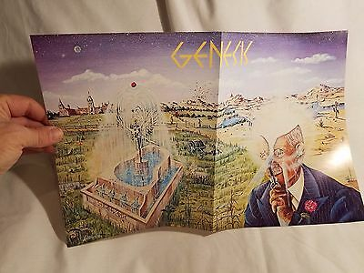 Genesis Music Band poster insert - Early Genesis Memorabilia