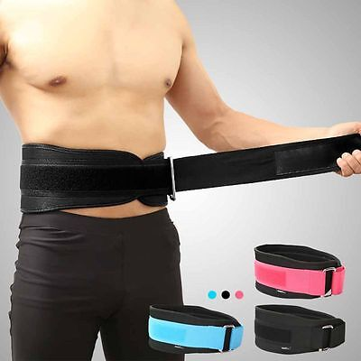 Men Lady Weight Lifting Belt Gym Fitness Lycra Breath Back Support Training Belt