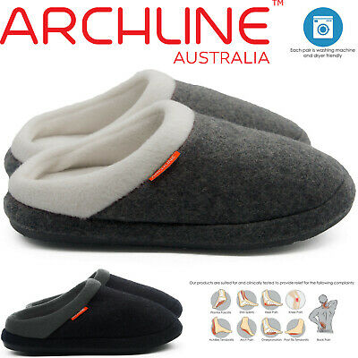 ARCHLINE™ Orthotic Slippers Slip On Arch Scuffs Medical Pain Relief Moccasins