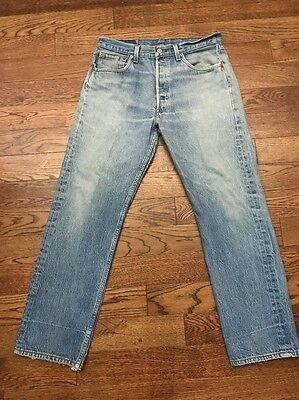 Vintage Made In USA Levi's 501 Denim Jeans -  33 X 28.5