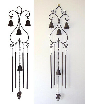 Metal Wind Chime Rustic Cast Iron Bells Large New
