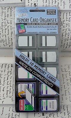 10 Pack Grant Archival New Memory Card Organiser  Holds SD, SDHC & Many Others