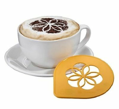 Tassimo Koziol Cappuccino Latte Stencil Cocoa Foam Print For Coffee - Yellow NEW