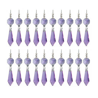 50Mm Purple Crystal Prisms Teardrop For Chandelier Lamp Part Wedding Decoration