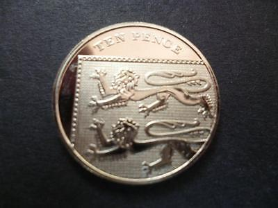 2010 Brilliant Uncirculated Ten Pence Piece .2010 Uncirculated 10P Coin.