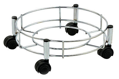 Doyours KItchen Gas Cylinder Stand Trolley With Quality Wheels Stainless Steel