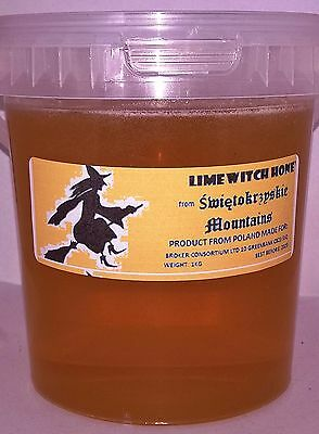 """1 Kg Lime """"witch"""" Mountain  Honey 100% Natural Raw Pure From Apiary"""