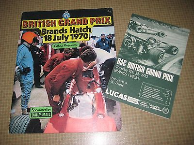 Programm Official Programme Formula 1 British Grand Prix Brands Hatch 1970 Rindt