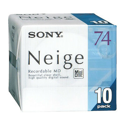 SONY Neige Series MiniDisk Recordable MD 74 Minutes Pack 10 New from Japan