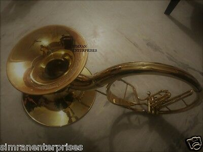 Sousaphone Dual Bell Horn Size Of 22 Inches + 16 Inches Bell Pure Brass Polish