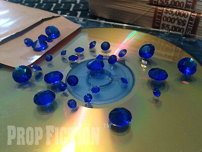 Movie Prop Sapphire Set - Film Prop Faux / Fake Blue Sapphires / Display Gems
