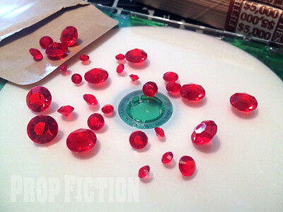 Movie Prop Ruby Set - Film Prop Faux / Fake Red Rubies / Display Gems