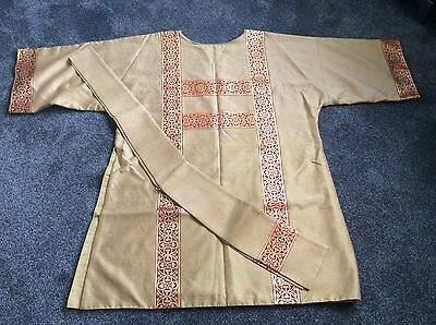 Dalmatic with matching Stole made from Thai gold Silk