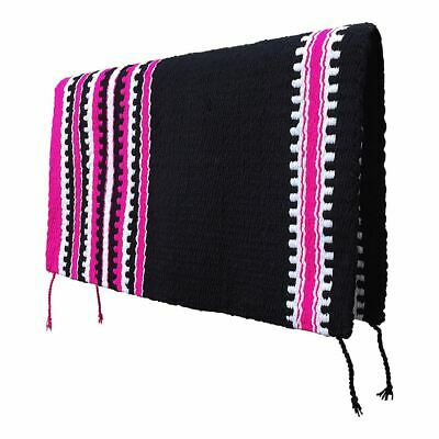 "NEW Black & Hot Pink WESTERN/STOCK SADDLE PAD/SHOW BLANKET 32"" x 36"" WASHABLE"