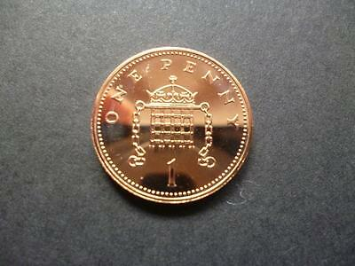 2008 Brilliant Uncirculated 1p (Penny) coin, the last Year of the older design.