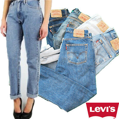 VINTAGE LEVIS 501 HIGH WAISTED MOM BOYFRIEND WOMENS JEANS - GRADE AGRADE A High